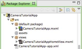 Camera ANE - test Flex app