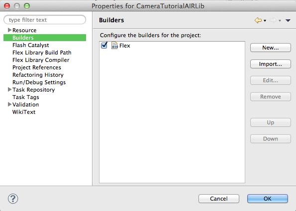 Flash Builder - Builders