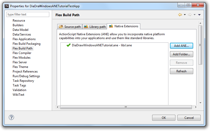 Include the ANE in the build path