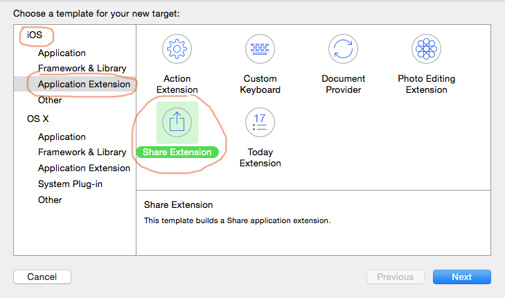create a new Xcode target