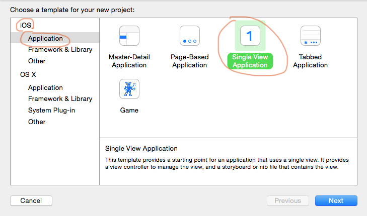 create an empty app in Xcode